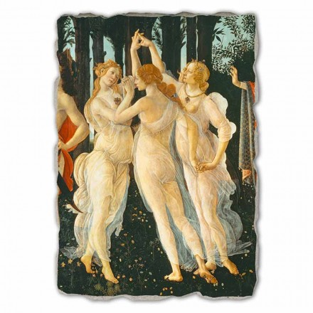 Primavera hand-painted fresco (detail), big size