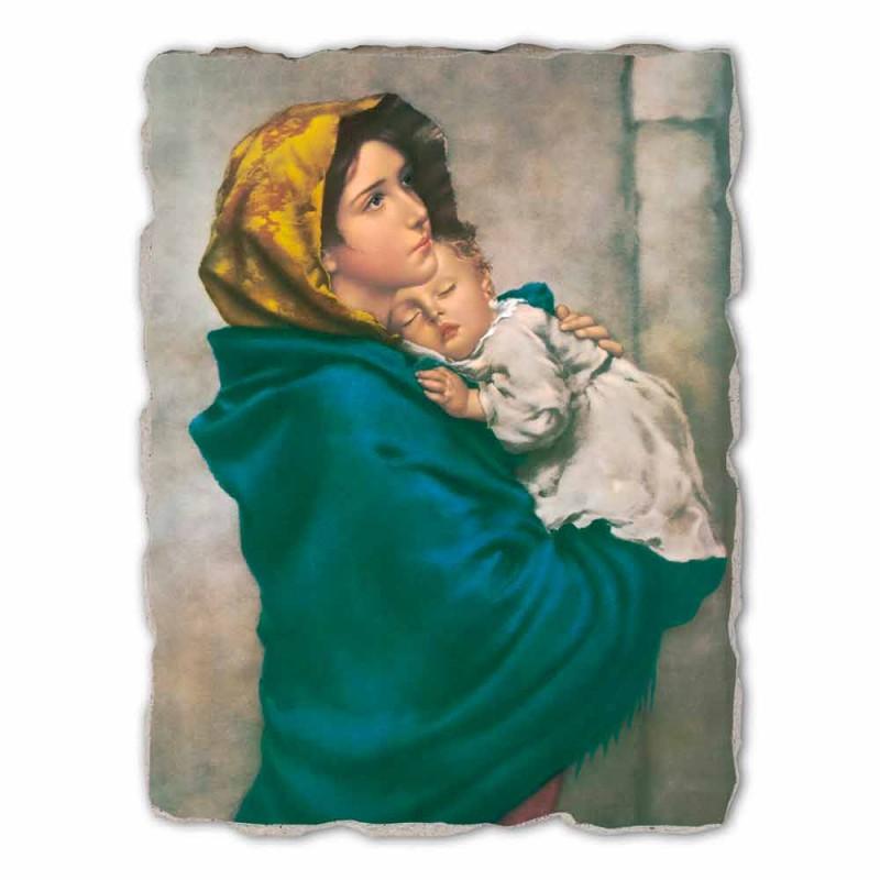 "large fresco handmade Ferruzzi ""Our Lady of Rest"""