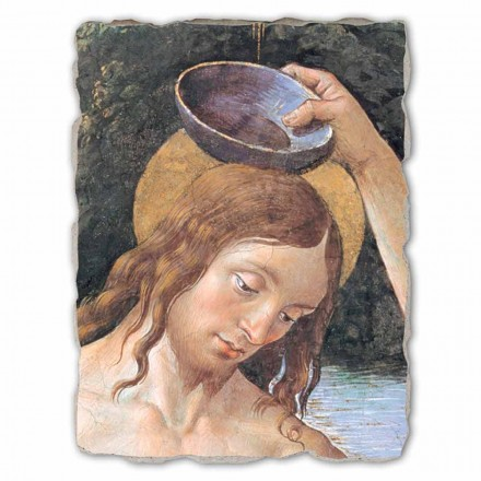 Baptism of Christ (detail) by Perugino, big size
