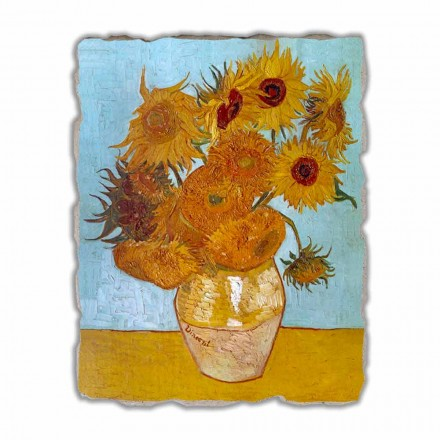Hand-painted fresco Sunflowers by Van Gogh, big size