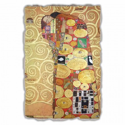 Fulfillment (The Embrace) by Gustav Klimt, big size