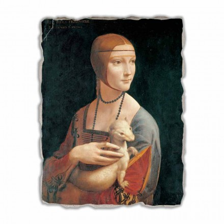 Lady with an Ermine by Leonardo da Vinci,  big size
