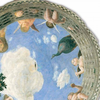 "large fresco Mantegna ""Oculus with Cherubs and Dame Overlooking"""