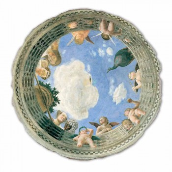 """large fresco Mantegna """"Oculus with Cherubs and Dame Overlooking"""""""