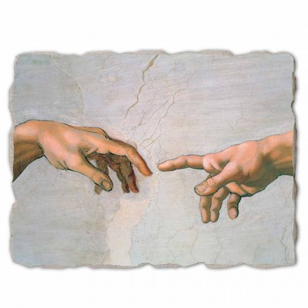 The Creation of Adam by Michelangelo, big size (detail)
