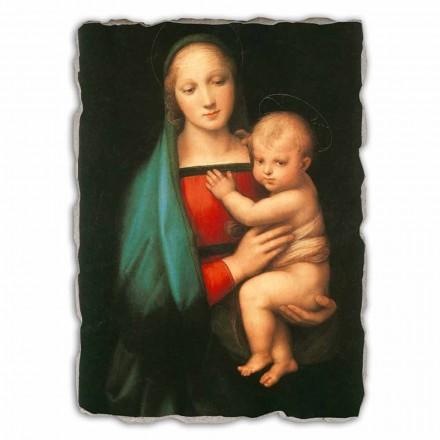 Madonna del Granduca by Rapahel, hand-painted fresco