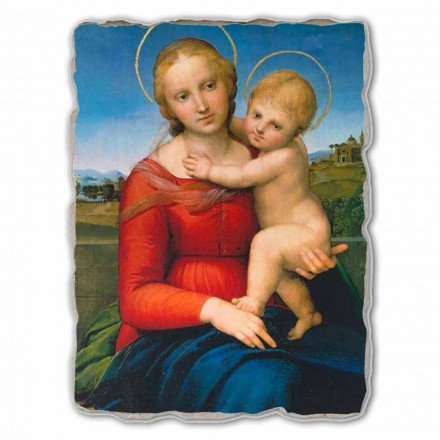 Small Cowper Madonna painting by Raphael, big size