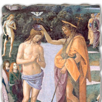 "great play Perugino fresco ""Baptism of Christ"""