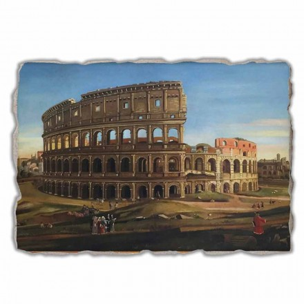 View of the Colosseum with the arch of Constantine, big size