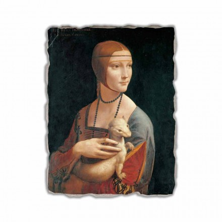 Lady with an Ermine by Leonardo da Vinci,  made in Italy