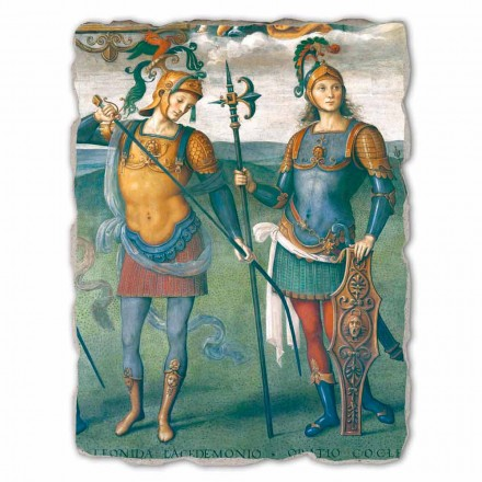 Fortitude, Temperance and Six Ancient Heroes, Italian fresco