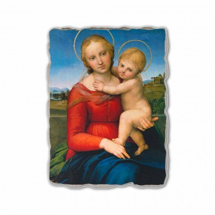Small Cowper Madonna by Raphael, hand-painted fresco