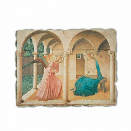The Annunciation by Fra Angelico, hand-painted fresco