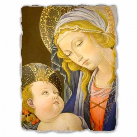 Madonna of the Book by Botticelli, hand-painted fresco
