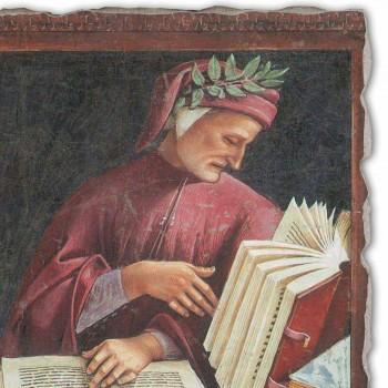 "Luca Signorelli's fresco reproduction ""Dante Alighieri"" 1499-1502"