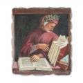 Dante Alighieri by Luca Signorelli, hand-painted fresco