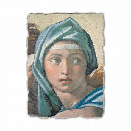 Delphic Sibyl by Michelangelo, hand-painted fresco