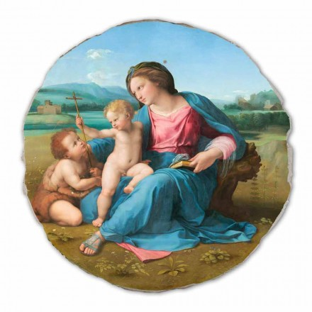 Alba Madonna by Raphael, hand-painted fresco