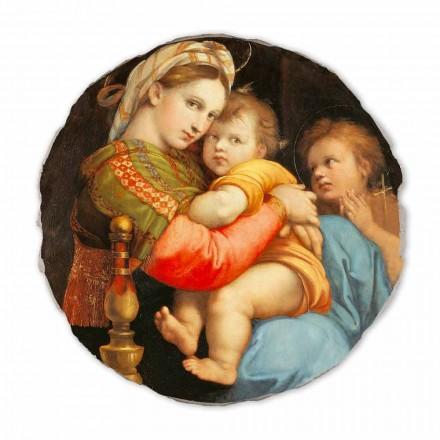 Madonna della Seggiola by Raphael, hand-painted fresco