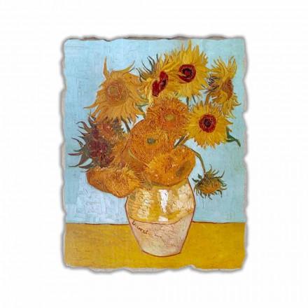 Hand-painted fresco Sunflowers by Van Gogh