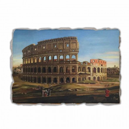 View of the Colosseum with the arch of Constantine fresco