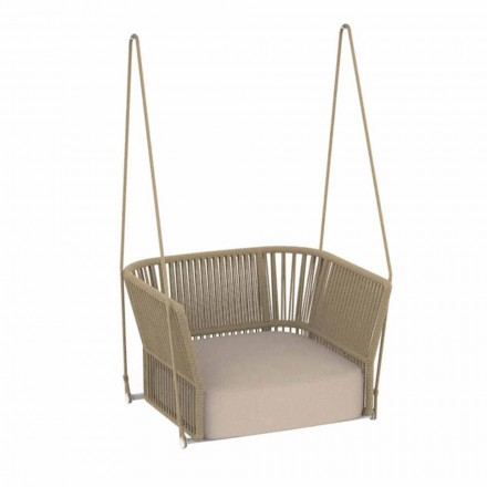 Modern Design Garden Swing in Fabric and Rope - Cliff by Talenti