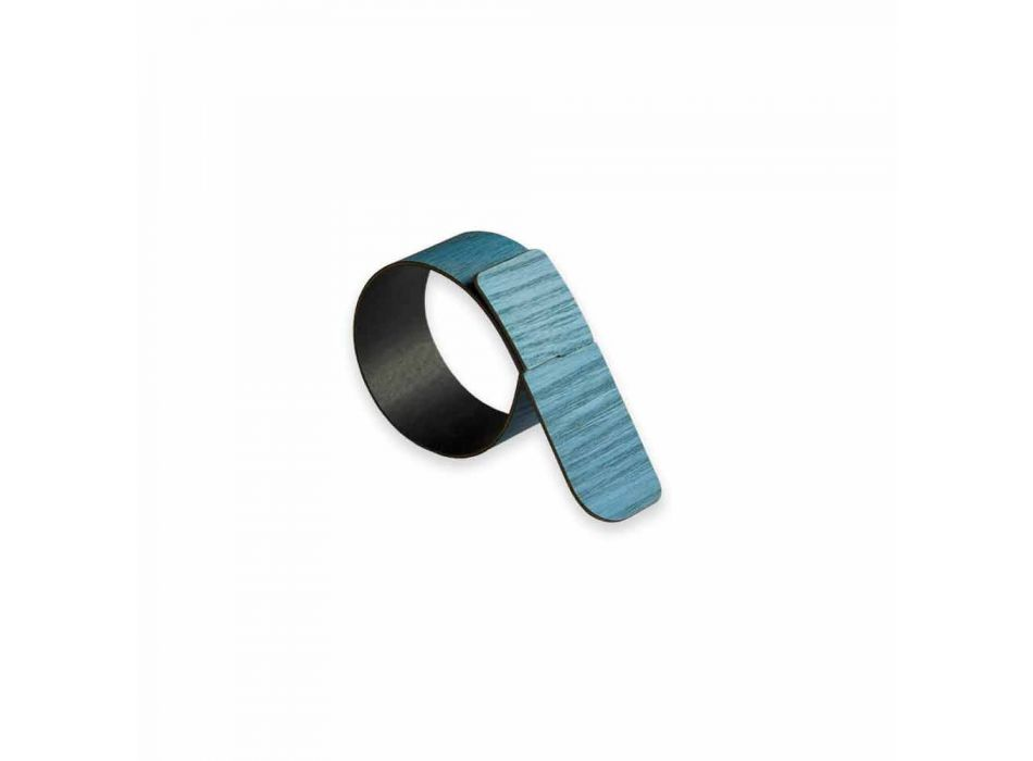 Ring Napkin Ring in Wood and Fabric Made in Italy - Abraham