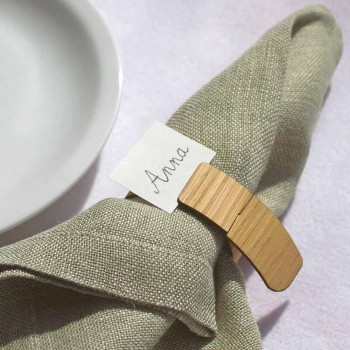 Modern Design Wooden Napkin Ring Made in Italy - Stan