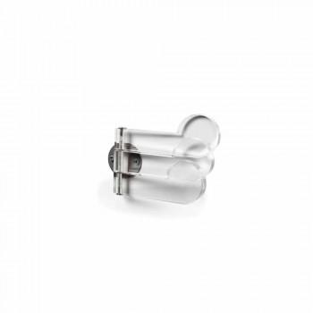 Wall hanger 3 adjustable hooks, transparent methacrylate Mady