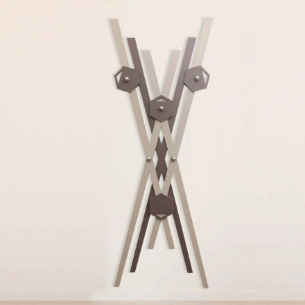 Modern Design Wall Coat Hanger Colored Wood for Entrance - Picasso
