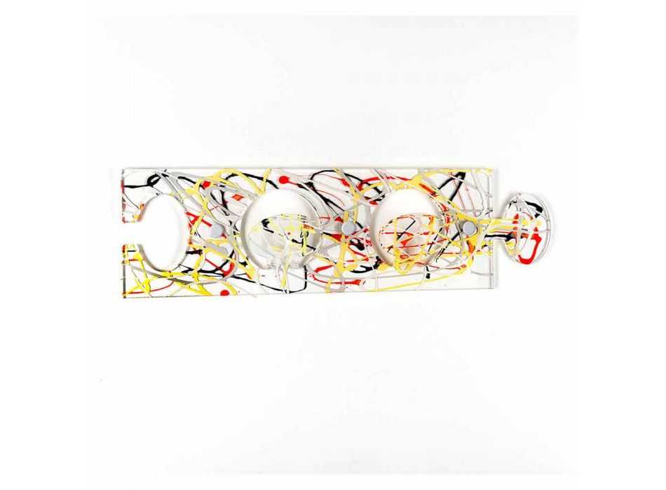 Colored Wall Hanger in Plexiglass Double Design 3 Pieces - Fratack