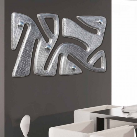 Wall coat rack Holt, decorated with silver leaf