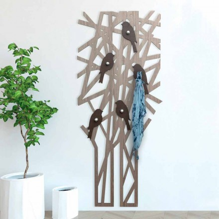 Modern Design Colored Wood Wall Coat Rack - Alberuccell