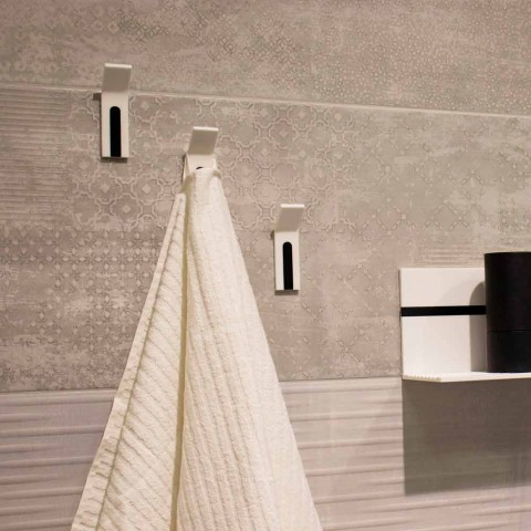 Corian Wall Coat Rack with White or Black Insert, 3 Pieces - Appiccio