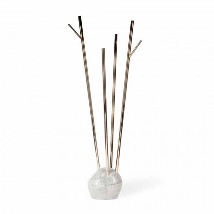 Modern design coat stand Zak, with marble base, made in Italy