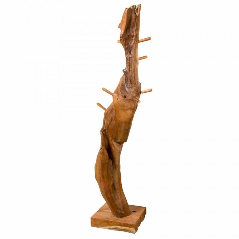 Coat Stand with Structure and Pegs in Solid Teak - Fir