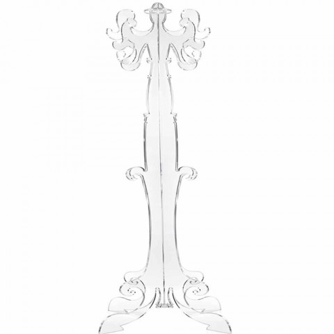 Floor coat rack, classic design, in plexiglass Giave