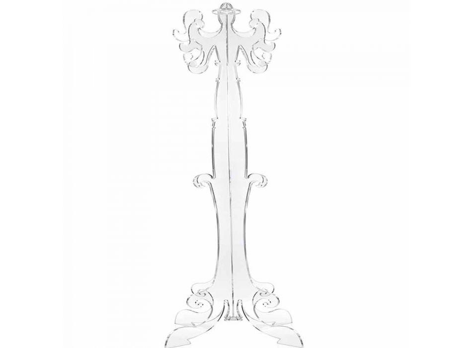Floor coat rack, classic design, in plexiglass Giave