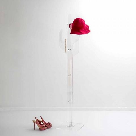 Cactus Appendiabiti.Transparent Plexiglass Freestanding Coat Hanger Cactus Made In Italy