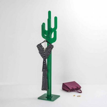 Modern design freestanding coat hanger Cactus, green color