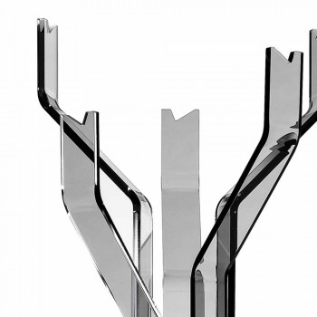 Smooth coat hanger with 5 Andrea hooks, modern design