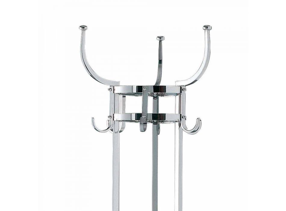 Chrome Finish Brass Coat Stand Made in Italy - Moscow