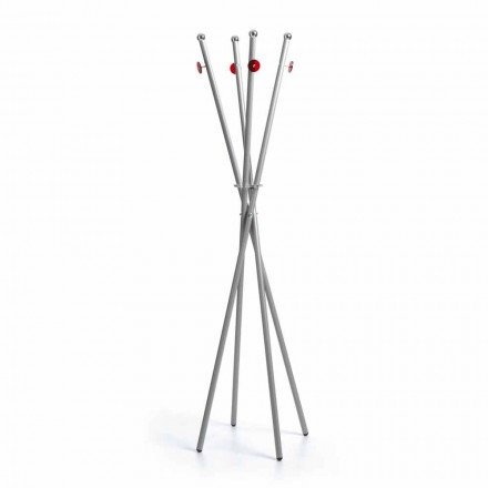Modern design floor standing coat stand Babilas, painted metal