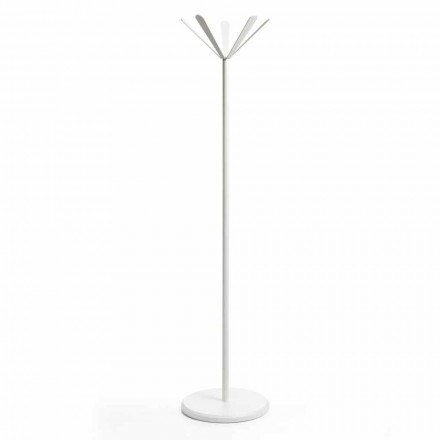 Modern design coat stand Zena, made of painted metal and MDF base