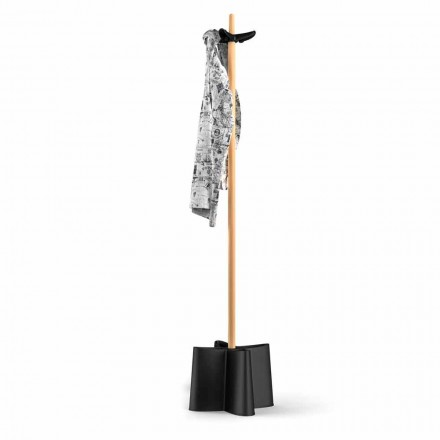 Coat stand Nurri, made of natural beechwood and polypropylene
