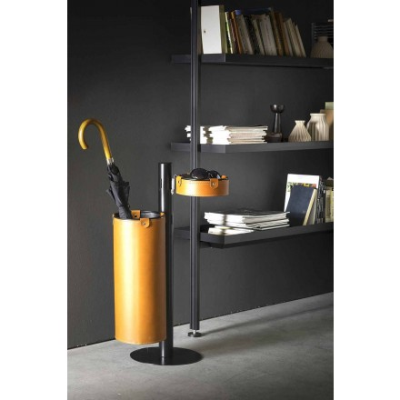 Modern Design Leather Hanger Made in Italy - Adelfo