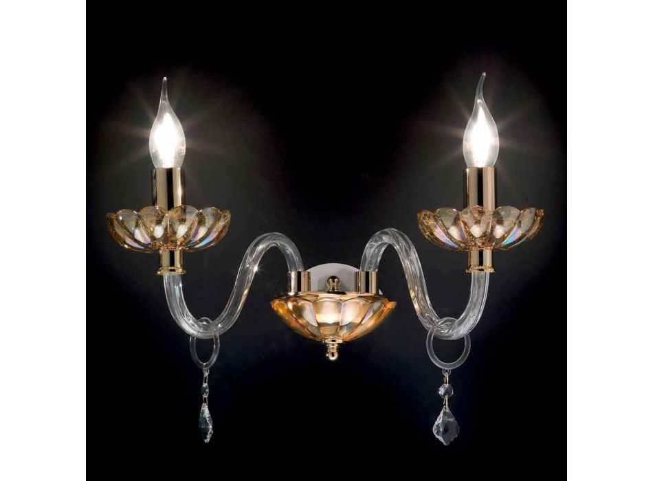Classic 2-way light crystal glass and Belle glass applique