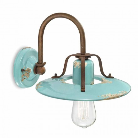 Gladys country spotlight applique in metal and ceramic by Ferroluce