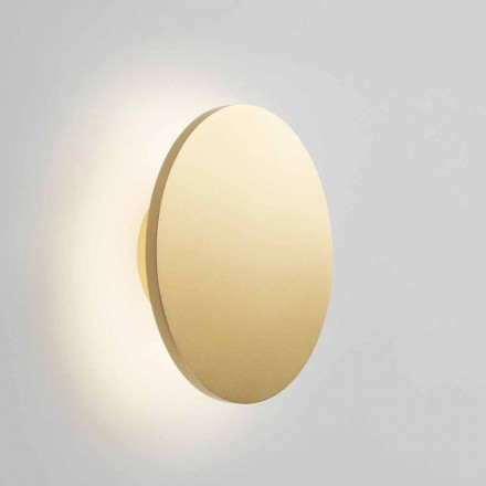 Round Design Wall Sconce in White, Black Gold or Rose Gold Metal - Smania