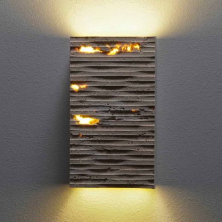 Serafini Marmi Pedra stone and metal wall light made in Italy